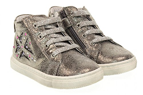 NEGRO JARDINES altas zapatillas de deporte júnior A521141F / 101 Antracite