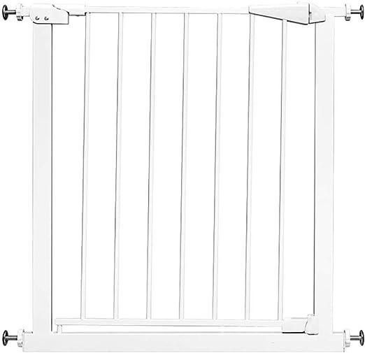 H.yina Puertas de Escalera Bebé de Metal Extra Ancho para Puerta, Protector de Pared Puertas Blancas para Mascotas con Puerta de Cierre automático para Perro, 75-194 cm de Ancho (tamaño: 95-104 cm):