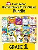 Evan-Moor Homeschool Teaching Resource Curriculum Bundle, Grade 1 - 18 Supplemental Workbooks - includes Reading, Writing, Vocabulary, ... Amazon...
