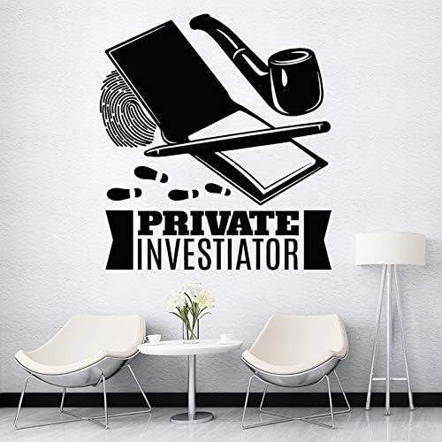 Detective Privado Etiqueta De La Pared Detective Detective CalcomaníA Investigador DecoracióN Del Hogar Tubo De Huellas Dactilares Dormitorio Sala De Estar DecoracióN 30x33cm