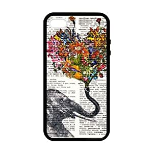 Elephant With Flowers On Trunk Case for iPhone 5 5s case