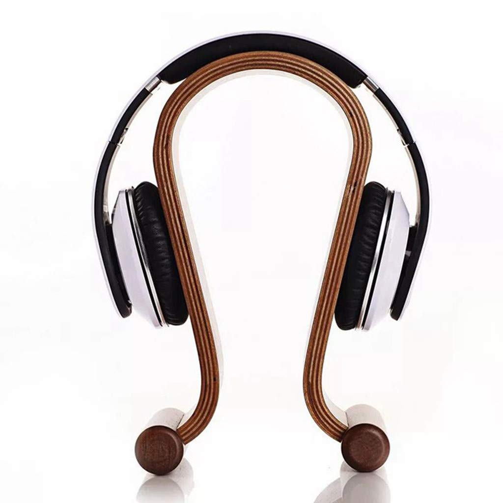 AIUSD Solid Wood Earphone Headset Desk Display Stand Hanger Holder for Headphone Decor