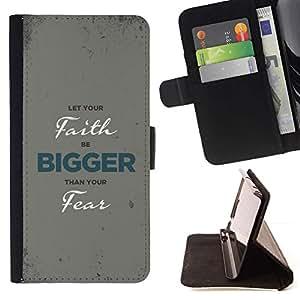 Momo Phone Case / Flip Funda de Cuero Case Cover - BIBLIA Deje que su fe sea más grande; - Sony Xperia M2