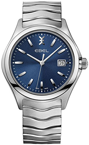 Ebel Wave Blue Dial Stainless Steel Mens Watch