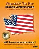 WASHINGTON TEST PREP Reading Comprehension MSP Reading Workbook Grade 7, Test Master Press Washington, 147820804X