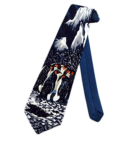 Brother's Mens Penguins Arctic Necktie - Black - One Size Neck (Arctic Ice Collection)