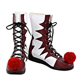 Pennywise Boots Shoes Cosplay Hot Movie It Costume Accessories Halloween Red & White Boots Props