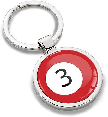 Llavero Sport Juego bola de billar rojo bola de billar número ...