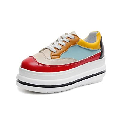 0da038caeed4e Amazon.com: Hy Unisex Canvas Shoes Spring/Fall Fashion Thick Bottom ...