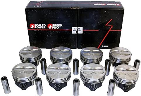 SPEED PRO Chevy 350 5.7 5.7L LT1 H597DCP Hypereutectic Coated Skirt Piston Set//8 .030