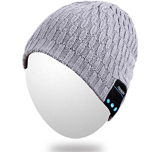 Bluetooth Beanie,Qshell Winter Fashional Hat Double Knit ...
