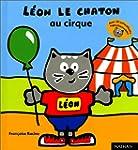 Leon le chaton au cirque -autocoll.