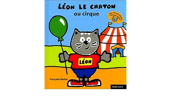 leon le chaton a la mer autocoll