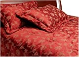 Divatex Toscana Jacquard Queen Comforter Set, Red
