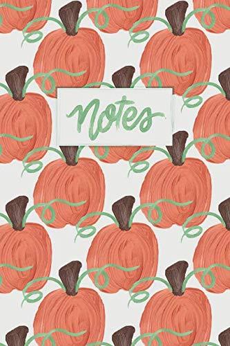 Notes: A Painted Pumpkin Dot Grid Notebook -