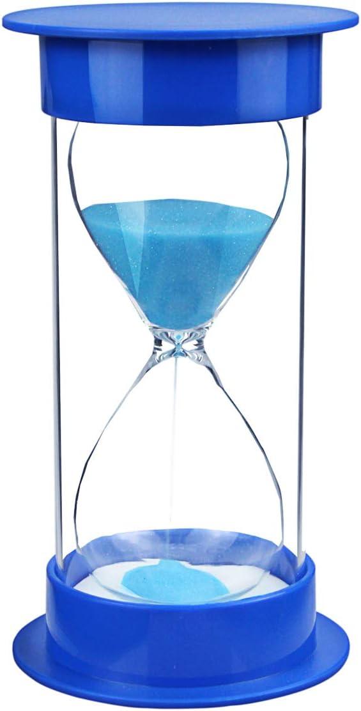 Toirxarn Reloj de arena, doble protección, asistente de gestión del tiempo, regalo creativo, decoración de la oficina de la sala de estar - 15 minutos Azul