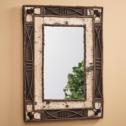 Birch & Rattan Mirror by Black Forest Decor