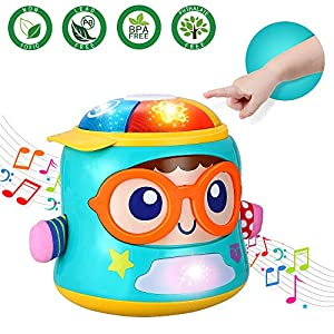 Infant Toys Tumbler Soother Baby Musical Toys for 6 12 18 Month Old Boys and Girls with Lights Sounds and Songs Baby Educational Learning Toy Early Development Games