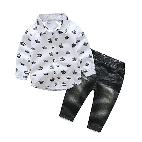 Halloween Wholesale Uk (Boy Outfits, Toddler Kids Children Clothes Suits Set (6, black-white))