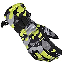 Men's Skiing Snowboarding Gloves Winter Heated Insulated Water Resistant Mittens