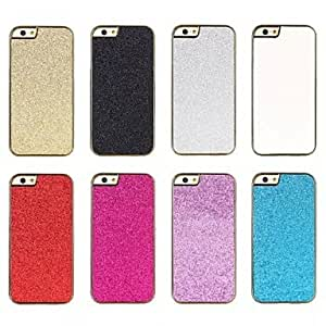 SHOUJIKE High Quality Shiny Aluminum Luxury Metal Back Cover Case with Edge Strip for iPhone 6(Assorted Colors) , White