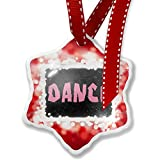 Christmas Ornament Dance Pink Punk Tape on Black, red - Neonblond