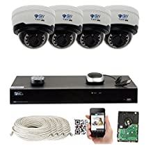 GW Security 8 Channel 4K 8MP NVR Sony Exmor R Starvis HD 1920P Home Security System - 4 x Dome 5 Megapixel 2.8-12mm Varifocal Zoom Waterproof IP PoE Cameras