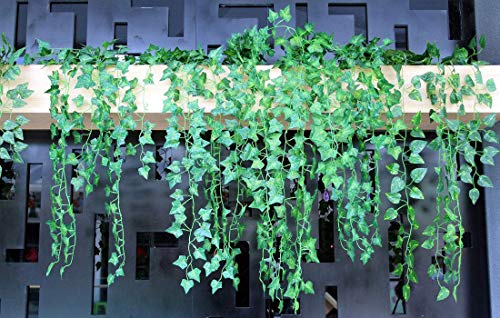Artificial-Ivy-Leaf-Garland-Plants82-Ft-12-Pack-Vine-Hanging-Wedding-Garland-Fake-Foliage-Flowers-for-Garden-Outdoor-Greenery-Home-Kitchen-Office-Wedding-Party-Wall-Decor