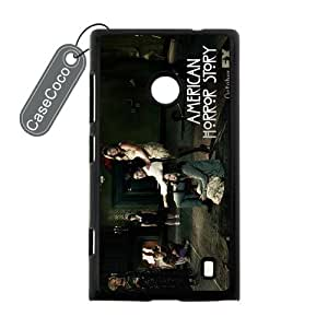 CASECOCO(TM) American Horror Story Nokia Lumia 520 Case - Protective Hard Black Case for Nokia Lumia 520