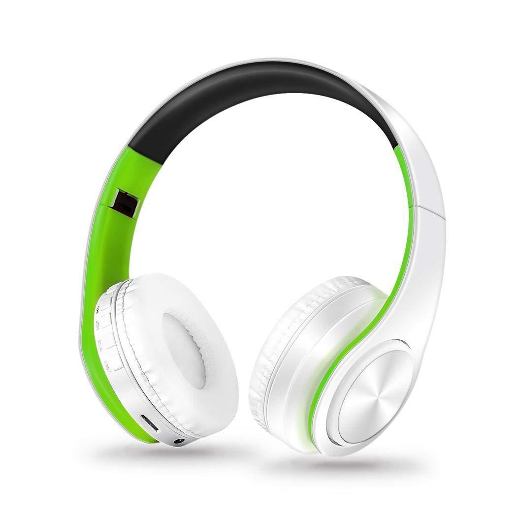 Zuionk Cinta Wireless Auriculares Micrófono Bluetooth Estéreo Plegable Auriculares Grün&weiß: Amazon.es: Informática