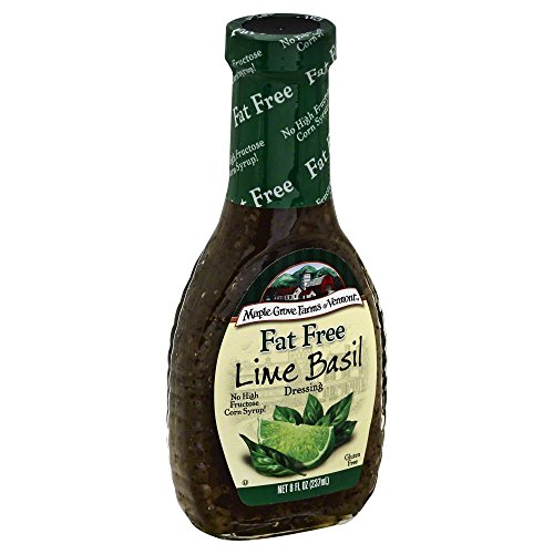 Vinaigrette Fat Free Dressing - Maple Grove Farms Fat Free Lime Basil Vinaigrette Dressing 8 Oz (Pack of 3)