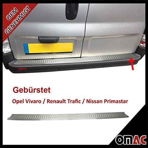 Ladekantenschutz Stoßstangenschutz Für Trafic Ii 2001 2014 Aus Edelstahl Chrom Gebürstet Auto
