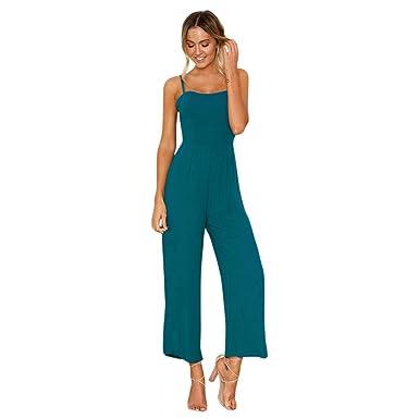 6c44da75a81b DAYLIN 1PC Womens Chiffon Straps Zipper Holiday Playsuit Ladies Long Beach  Jumpsuit  Amazon.co.uk  Clothing