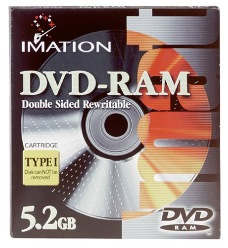 Imation IMN41134 DVD-RAM, 5.2 GB, Double Sided Rewritable (Single) by Imation