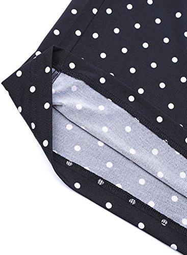 Arrisol Women's Stretchy Wide Leg Palazzo Lounge Pants (XL, D-Polka Dot) by Arrisol (Image #5)