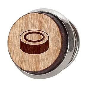 Wooden Accessories Co Hockey Puck - Alfiler de Corbata (Madera de ...