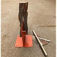 Hi-Flame Kindling Log Splitter Chop Firewood for Wood Stove and Fireplace, Orange