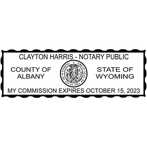 Wyoming Notary Rectangle Stamp