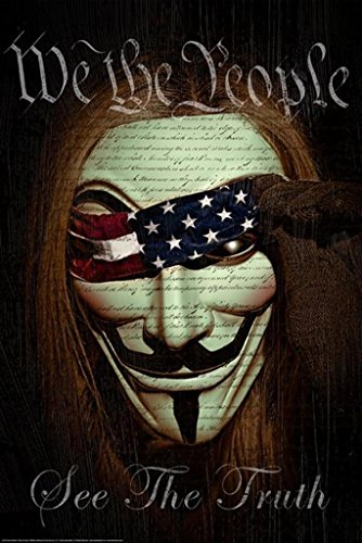 Daveed Benito We the People (V for Vendetta) Modern Art Print Poster 24 by 36