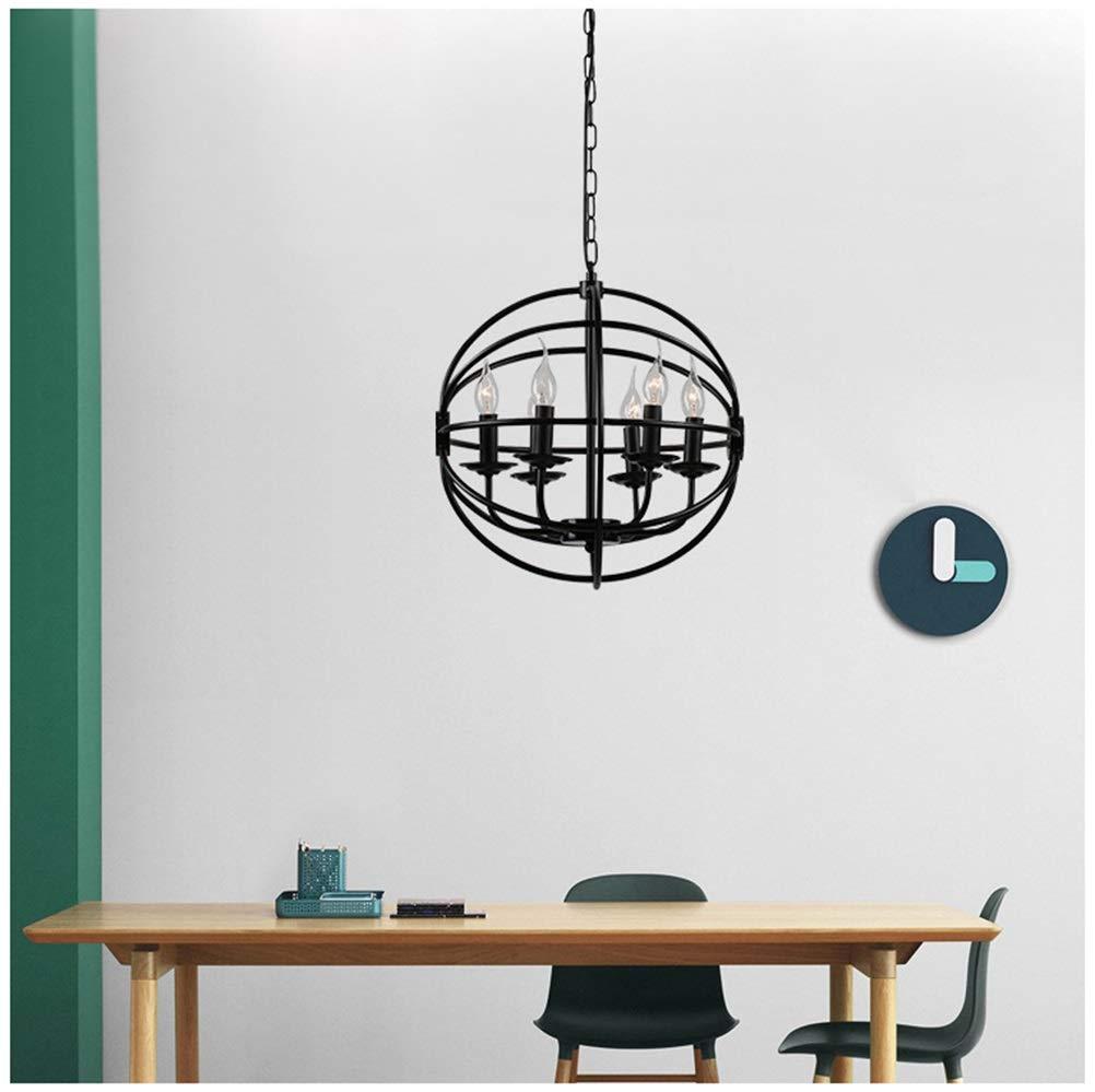 GG_L 現代のペンダントライト新地球ファッション天井照明、錬鉄シングルヘッドシャンデリア人格レストランのリビングルームの寝室の備品 - 黒   B07TWM1D3M