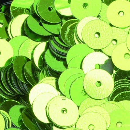 efco Plano Redondo Lentejuelas, Verde Claro, 6mm, 5g, 500 1027161