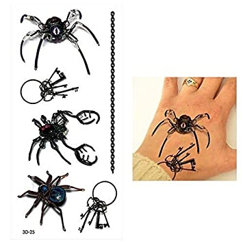 6207e1722 BLACK WIDOW Transformers electric Robot spider man TEMPORARY TATTOO  cover-up Cloak & dagger Spider