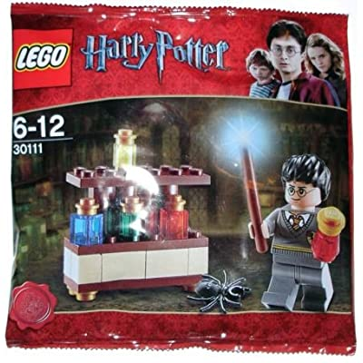 4KIDS Toy / Game Lego Harry Potter Exclusive Mini Figure Set #30111 The Lab Bagged with Different Bottles of Potions: Toys & Games