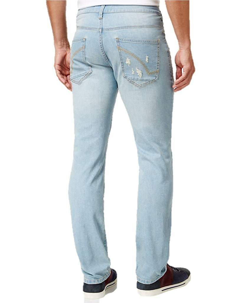 5e57bae95 Ring of Fire Men's Slim-Fit Cayenne Skylar Wash Destructed Jeans at Amazon  Men's Clothing store: