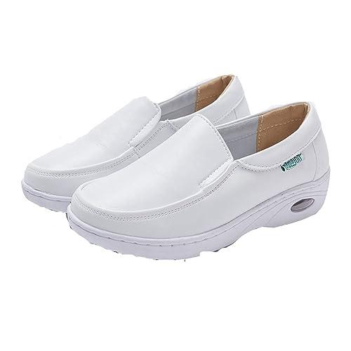 Zapatos De Enfermera De ColchóN De Aire para Mujer Zapatillas De Plataforma De Invierno Zapatillas De