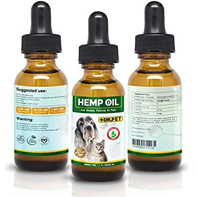 Dr. Pet Dogs and Cats-Full Spectrum Hemp Extract All Natural Pain Relief Calming, Stress & Anxiety Support, Hip & Joint Health Pet Oil 250mg