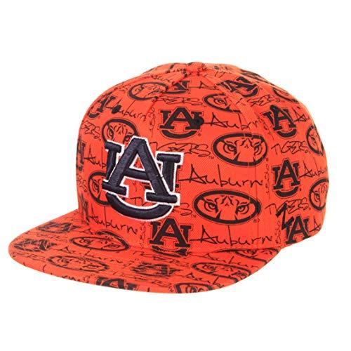 (Zephyr NCAA Auburn Tigers Men's Manic Snapback Hat, Adjustable, Orange)