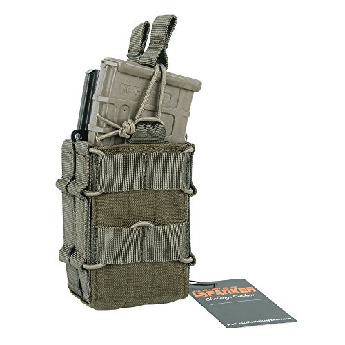 EXCELLENT ELITE SPANKER Open-Top Single/Double Mag Pouch for M4 M14 M16 AR15 - Double 511 Pouch Mag