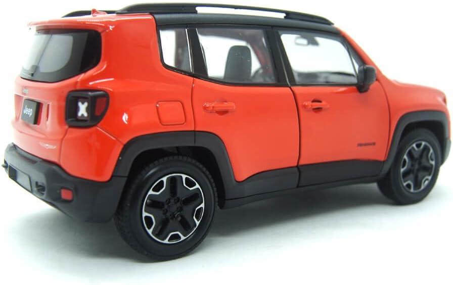 Welly Jeep Renegade Trailhawk 2017 Orange Modellauto 1 24 Spielzeug