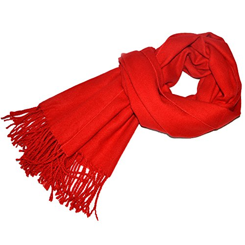 JGHSI Winter The Shawl Cashmere Feelin Keep Warm Collar Solid Color A Versatile Scarf